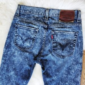 Levis 510 acid washed skinny jeans